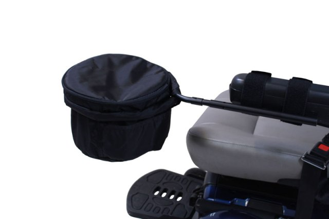 Front Arm Rest Bag For Wheelchairs Rigid Frame Storage Bag