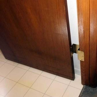 Video & Swing Away Offset Door Hinges: Brass expandable door hinges