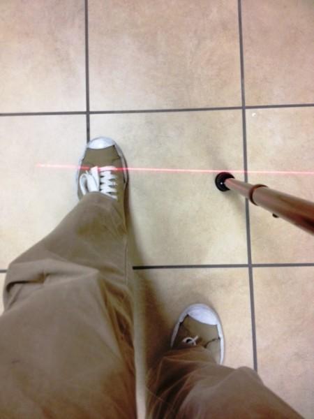 Laser Walking Cane Laser Beam Walking Aid