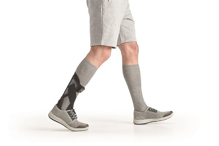 man using an ankle brace
