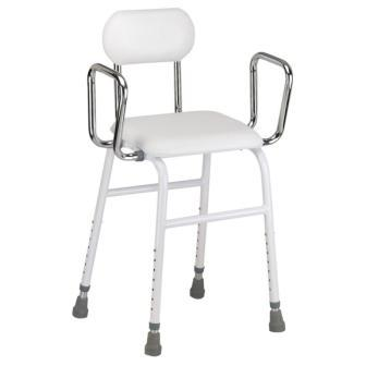 All Purpose Kitchen Stool With Adjustable Arms Hip Chair