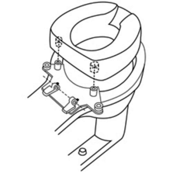 Tallette Elevated Toilet Seat Hip Replacement Raised Toilet Seat