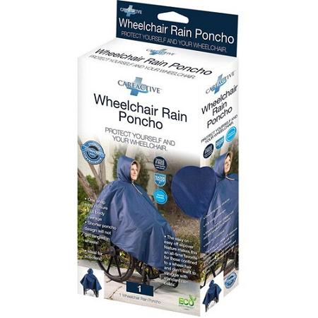 Wheelchair Winter Poncho Fully Lined Waterproof Poncho