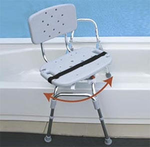 Snap N Save Sliding Transfer Bench With Swivel Seat