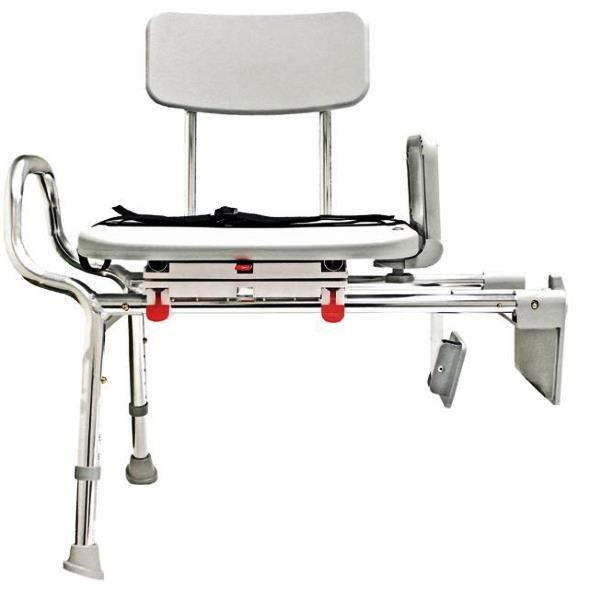 Tub Mount Sliding Transfer Benches with Swivel Seat