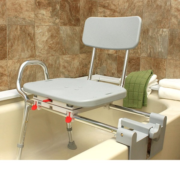 Snap N Save Tub Mount Transfer Bench With Molded Swivel