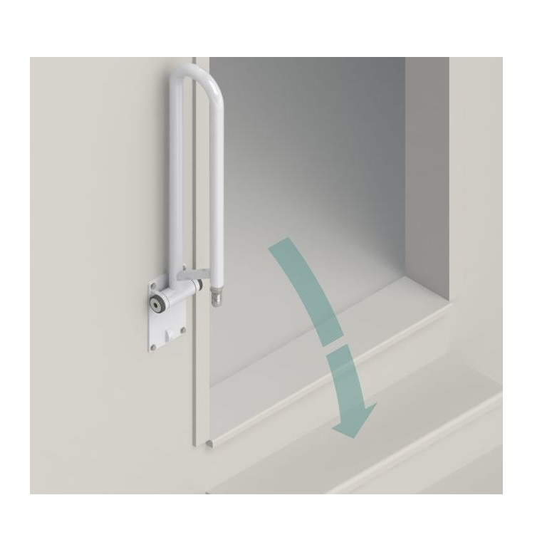 Healthcraft Pt Rail Angled Safety Grab Bar Hinged