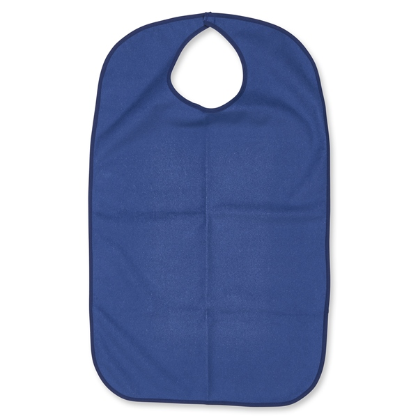 Blue Terry Cloth Adult Size Bib