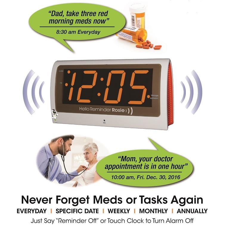 Reminder-Rosie-Voice-Activated-Clock