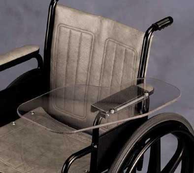 Clear Flip Away Wheelchair Tray