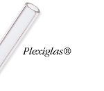 Clear Rigid Plexiglas Reusable Long Straws