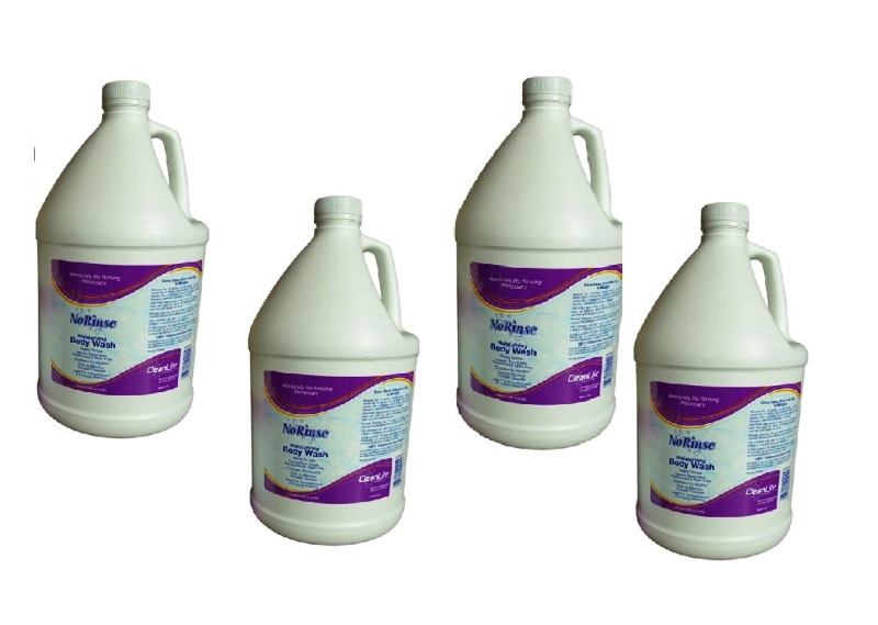 Case of 4 No Rinse Body Wash Gallon