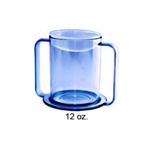 Active Living Two Handled Easy Grip Drinking Cup Mobility Aid Mug Wide Base