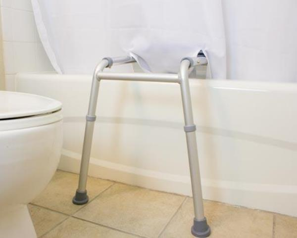 Simplicity Transfer Bench Shower Curtain Color=White The Wright Stuff Inc