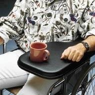 Flip Away Wheelchair Padded Armrest Tray