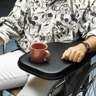 Flip Away Wheelchair Padded Armrest Tray