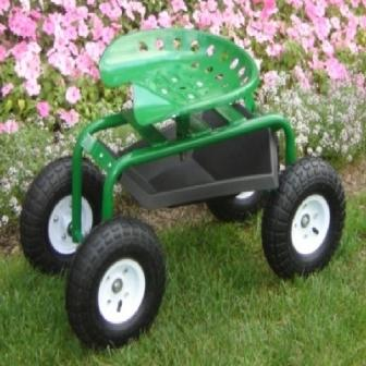 Garden seat caddy wheeled garden seat for Gardening tools for disabled