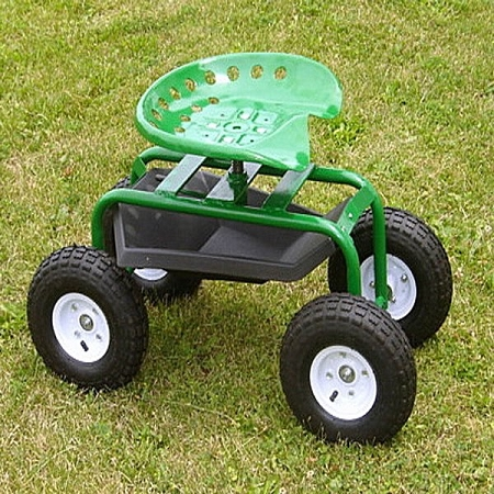 Garden Seat Caddy four wheeled garden scoot with tractor seat