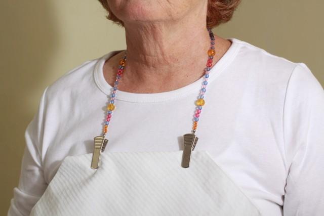 Granny Jo Jeweled Napkin Clip