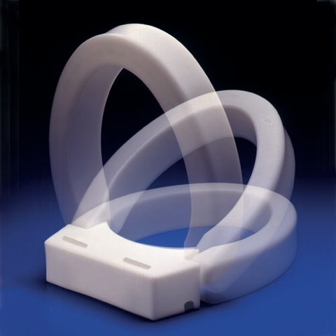 Hinged Elevated Toilet Seat :: 3 inch high rise allows toilet seat ...