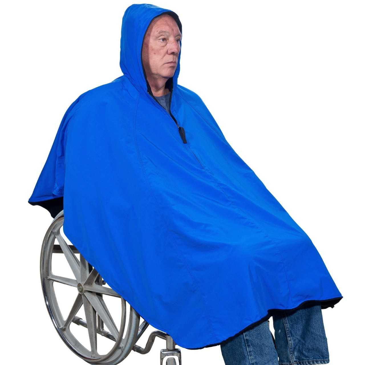 Fleece Lined Hooded Wheelchair Poncho - Discontinued