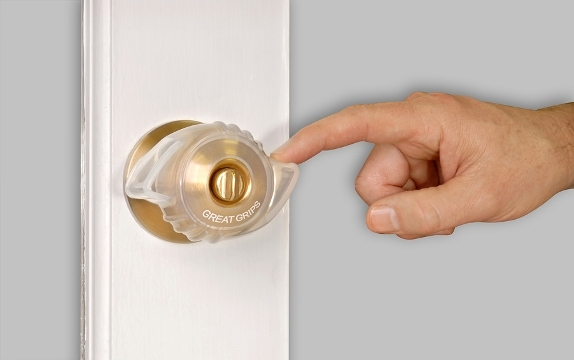 Great Grips Two Lever Doorknob Grippers Non Slip Covers
