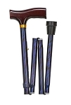 Lightweight Adjustable Folding Designer Cane, Blue Cyclone - Discontinued