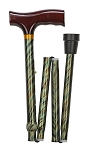 Lightweight Adjustable Folding Designer Cane, Green Cyclone - Discontinued