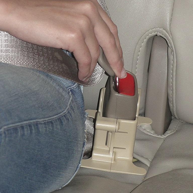MyBuckleMateFloppy Seat Belt Buckle Holders ~ Set of 2 Red