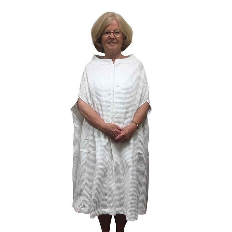 Granny Jo Waffle Weave Bath Cape