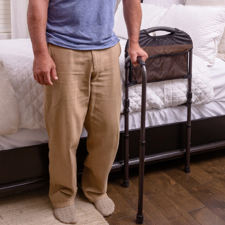 Stander Mobility Bed Rail Bed Rail Handle With Pivot Arm