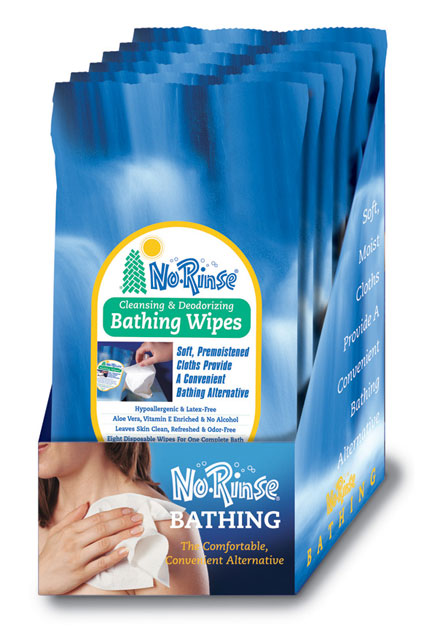 Case of 24 No-Rinse Bathing Wipes