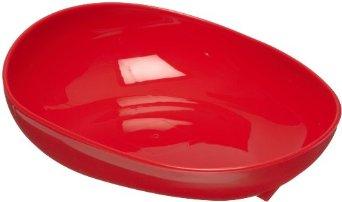 Non-Slip Oval Scooper Red Dish