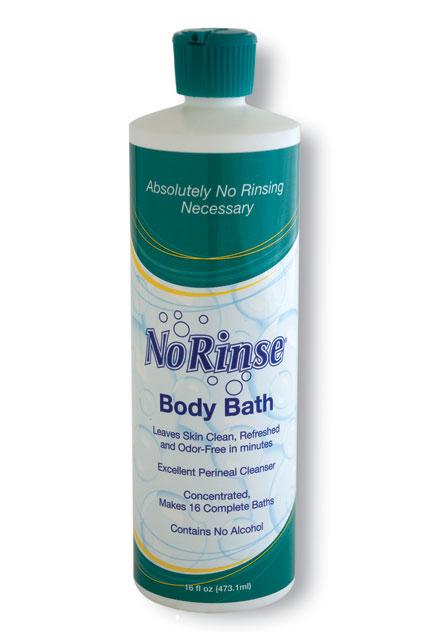 Case of 12 No Rinse Body Bath 16 oz. bottles