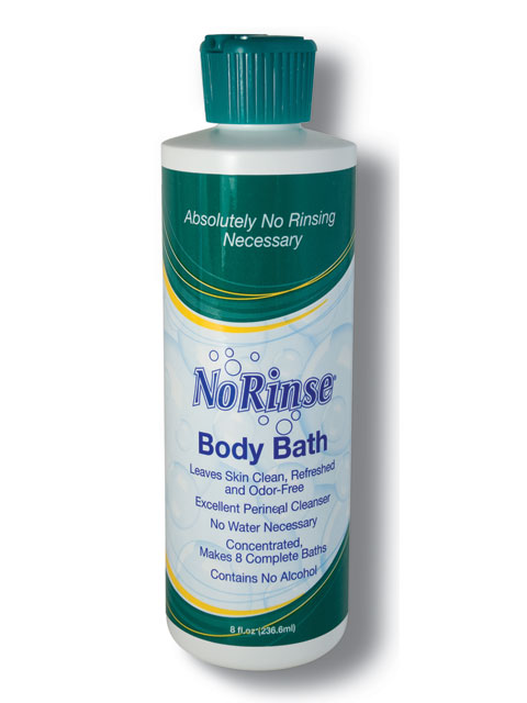 Case of 24 No Rinse Body Bath 8 oz. bottles