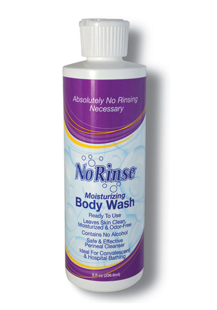 Case of 24 No Rinse Body Wash 8 oz bottles