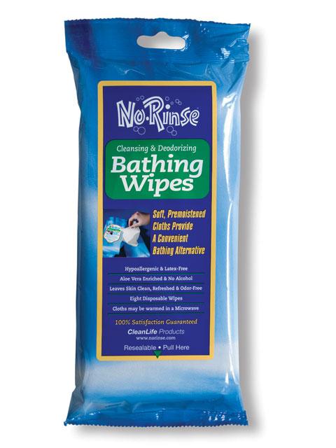 No Rinse Bathing Wipes
