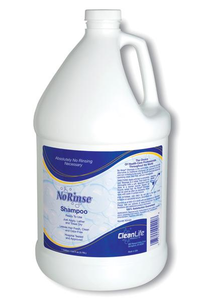No Rinse Shampoo Case of 4 Gallons