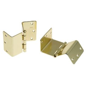 Swing Away Offset Door Hinges, Brass