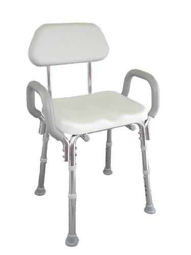 Padded Shower Chair with Back & Arms