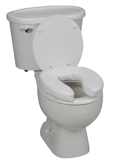 Padded Vinyl Raised Toilet Seat