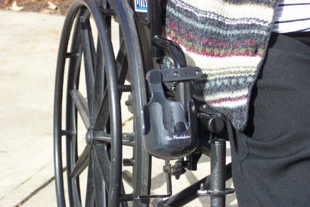Pendulator Universal Cup Holder :: no spills on wheelchair stand up and play, courtesy cart, grocery cart,