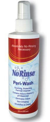 No Rinse Peri Wash 8 oz bottle