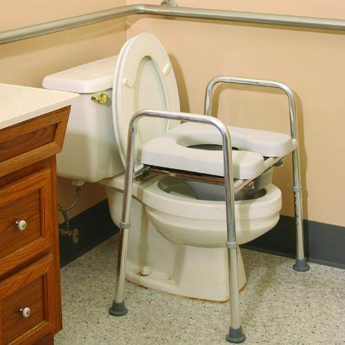 Raised Toilet Frame With Padded Seat Multi Function
