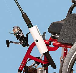 Rod and Reel Holder for Wheelchairs