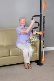 Stander Security Pole and Grab Bar