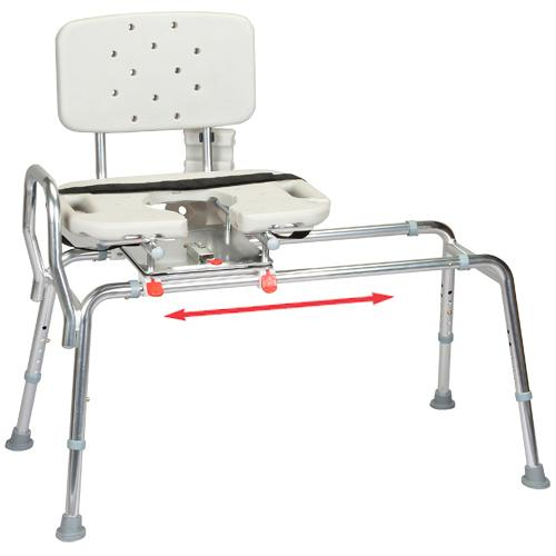 Sliding Transfer Bench With Cut Out Swivel Seat Tub Transfer Bench