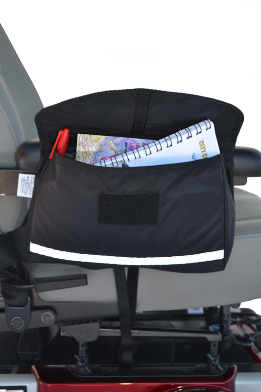 Standard Saddle Armrest Bag for Wheelchairs, Scooters