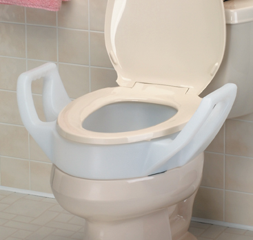 Standard Model Raised Toilet Seat with Arms