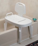 Bath Safe Adjustable Transfer Bench with Arms & Back